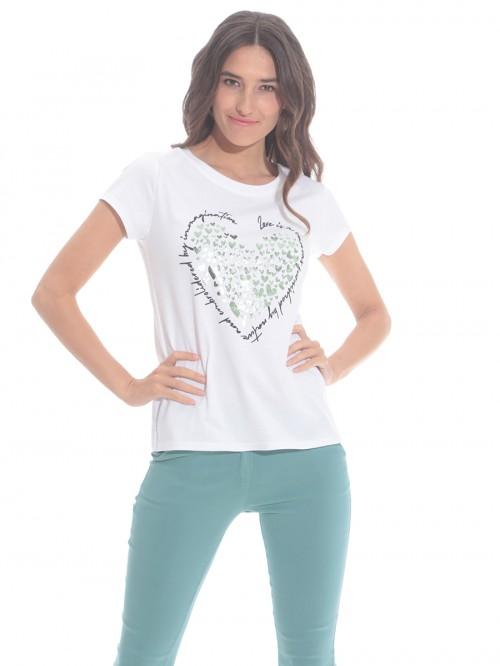 T-Shirt καρδιές μικρές