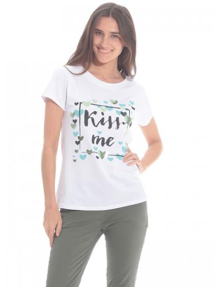 Μπλούζα τύπωμα Kiss Me