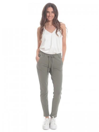 Παντελόνι χακί λάστιχο μέση