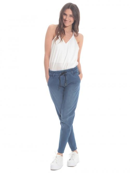 Τζιν παντελόνι λάστιχο μέση
