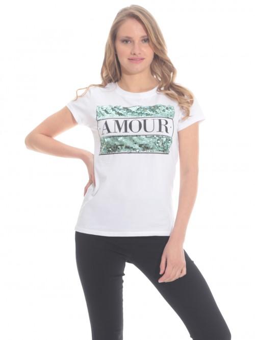 Μπλούζα παγέτα Amour