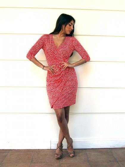 Φόρεμα κρουαζέ πουά