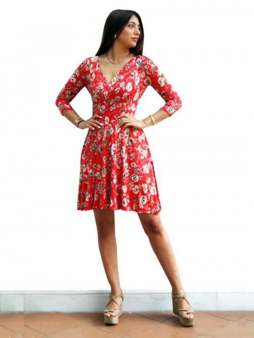 Φόρεμα φλοράλ κρουαζέ κλος