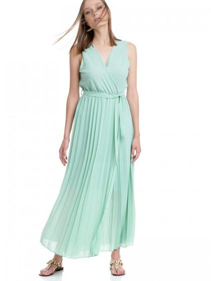 Φόρεμα maxi πλισέ
