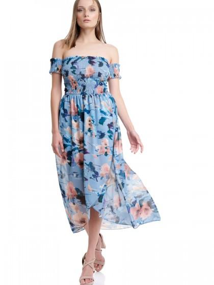 Φόρεμα σφιγκοφωλιά ασύμμετρο