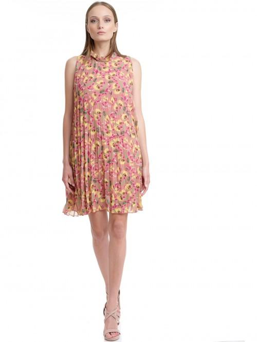 Φόρεμα φλοράλ πλισέ