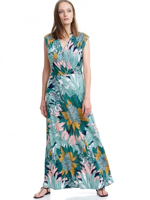 Φόρεμα maxi ζέρσεϊ floral