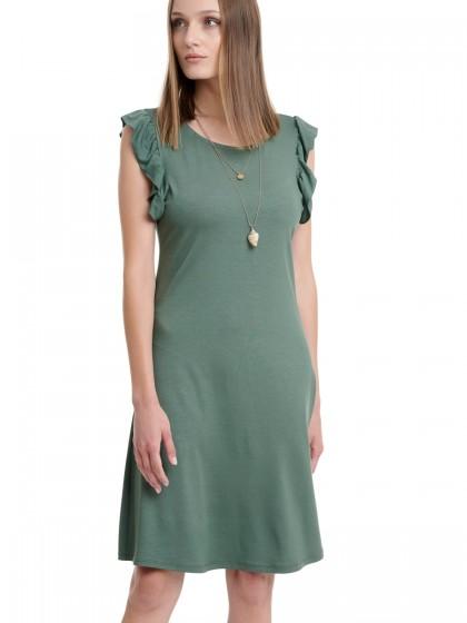 Φόρεμα μακό βολάν μανίκι