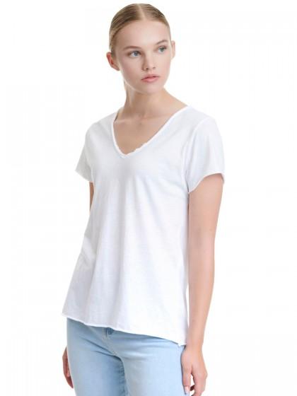 Μπλούζα V βαμβακερή