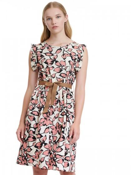 Φόρεμα ποπλίνα εμπριμέ