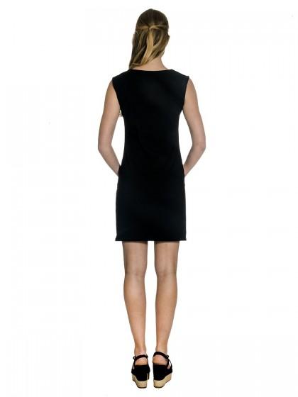 Φόρεμα τρίχρωμο γκρο