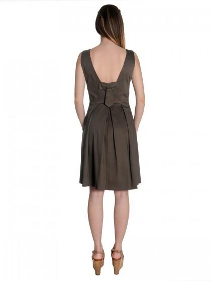 Φόρεμα βαμβακερό πιέτες φιόγκος
