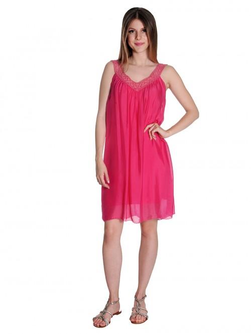 Φόρεμα αμπιγιέ V μετάξι