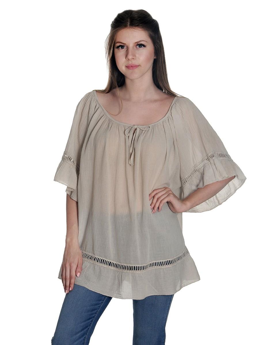 f197c5e30d6a Γυναικεία   Ρούχα   Μπλούζες   Τουνίκ   Ασύμμετρη floral τουνίκ με ...