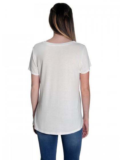 Μπλούζα σατέν κοντομάνικη