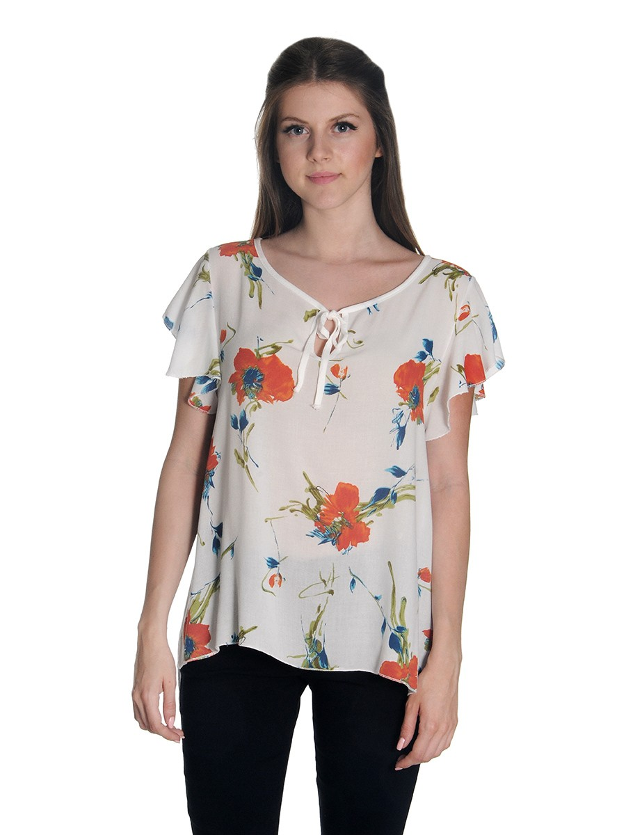 317d16304657 Γυναικεία   Ρούχα   Μπλούζες   Τουνίκ   Ασύμμετρη floral τουνίκ με ...