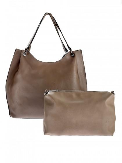 Τσάντα shopping πιέτες
