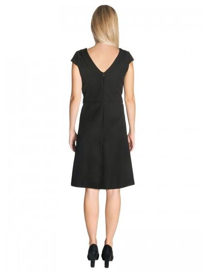 Φόρεμα V μαύρο βελούδο ζώνη