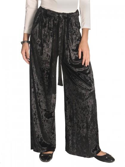 Παντελόνα μαύρη βελούδο