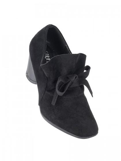 Παπούτσι μαύρο σουέντ κόμπος
