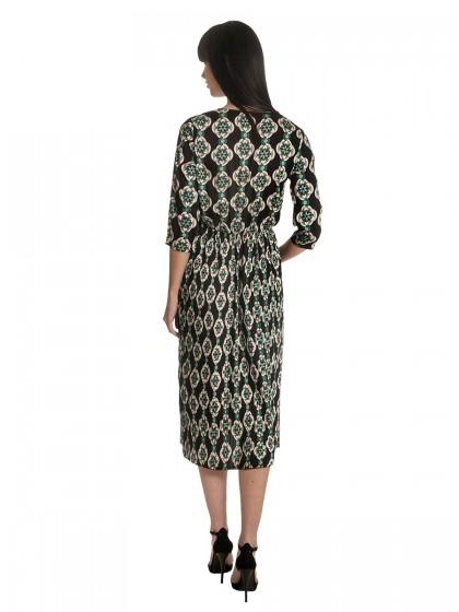 Φόρεμα μάξι πλισέ κρουαζέ