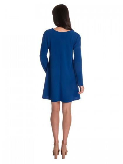 Φόρεμα μακρυμάνικο κρεπ