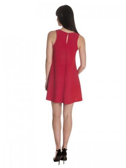 Φόρεμα αμάνικο κρεπ