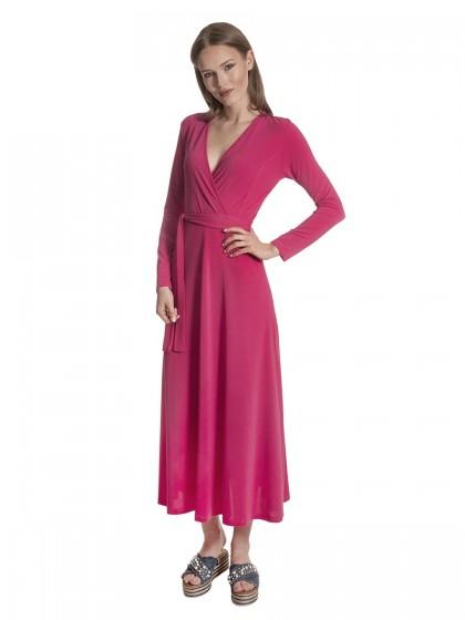 Φόρεμα μάξι κρουαζέ ζέρσει