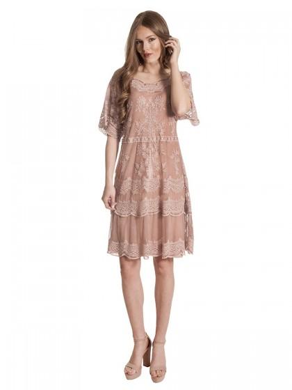 Φόρεμα τούλι δαντέλα 3κάρ
