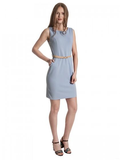 Φόρεμα αμάνικο ραφές ζώνη