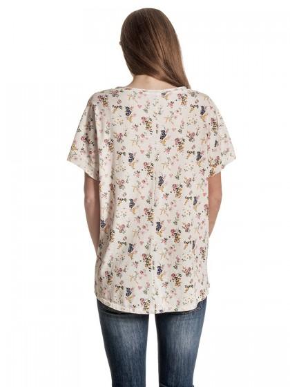 Μπλούζα ανθάκια φουλάρι
