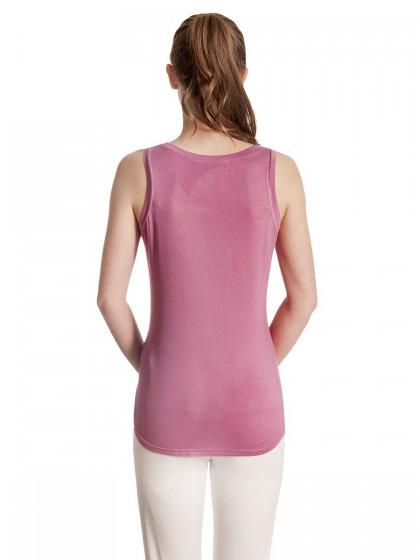 Μπλουζάκι V αμάνικο σατέν
