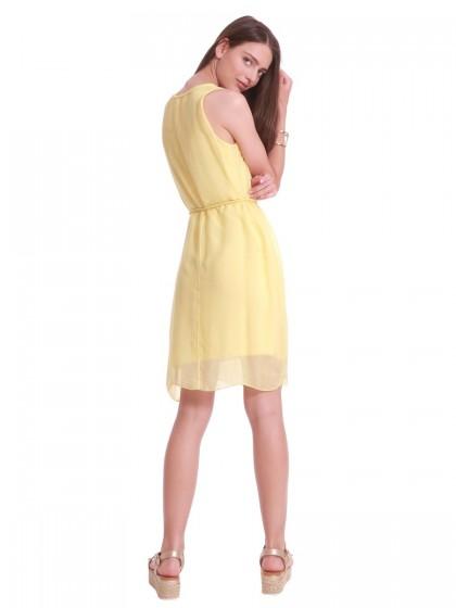 Φόρεμα μεταξωτό κίτρινο