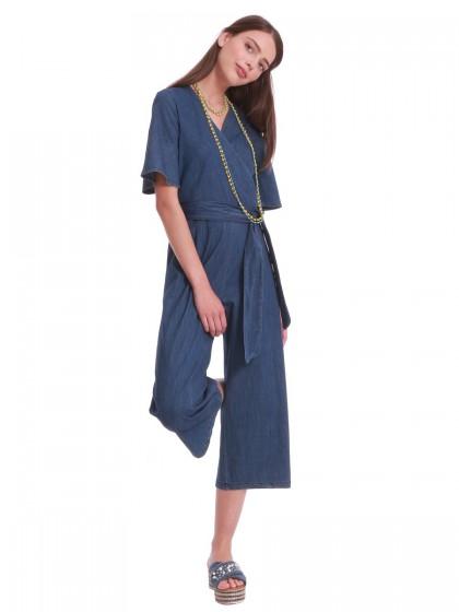 Φόρμα ολόσωμη τζιν κρουαζέ
