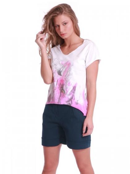 T-Shirt φλαμίνγκο ροζ