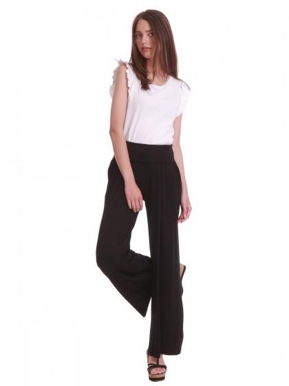Παντελόνα μαύρη ζέρσευ ψηλόμεση