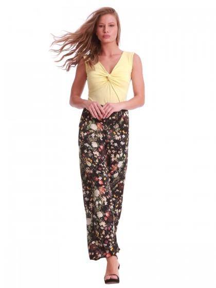 Παντελόνα βισκόζ floral