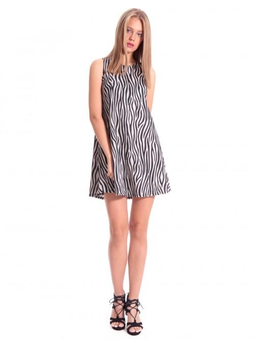 Φόρεμα αμάνικο ζέμπρα κλός