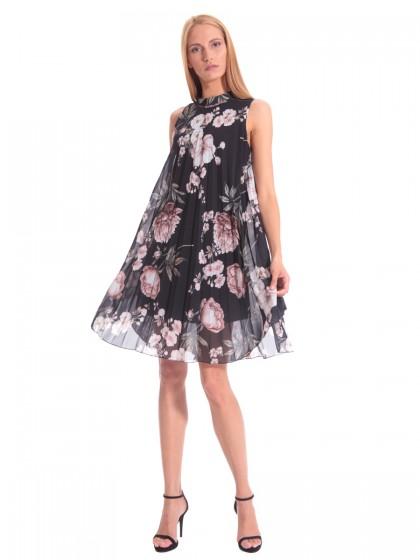 Φόρεμα βραδινό πλισέ φλόραλ