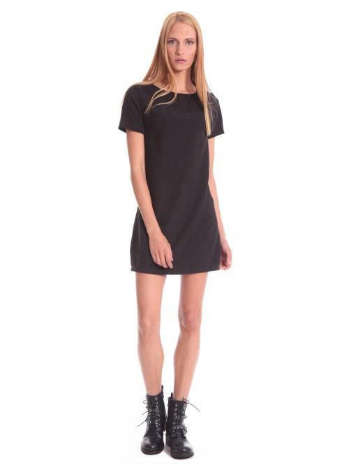 Φόρεμα κοτλέ κοντομάνικο