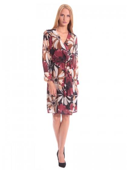 Φόρεμα κρουαζέ κλος λουλούδια