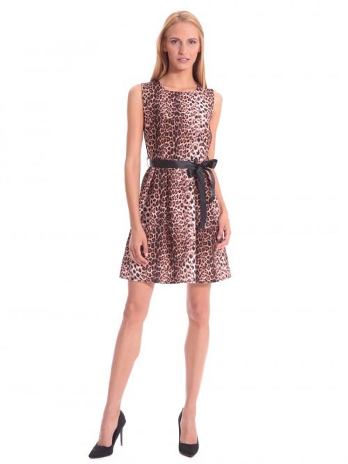 Φόρεμα λεοπάρ πιέτες