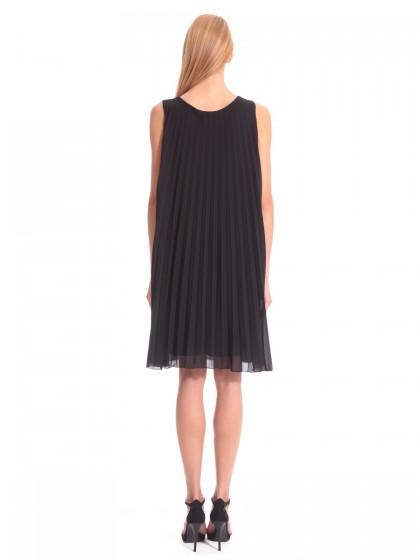 Φόρεμα μαύρο πλισέ βραδινό