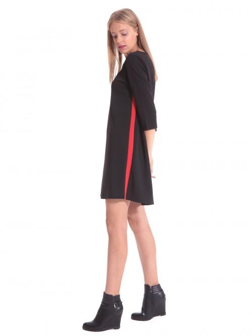 Φόρεμα μαύρο τύπου αθλητικό