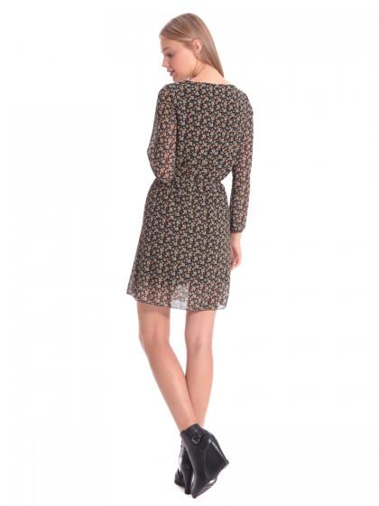 Φόρεμα μουσελίνα ανθάκια