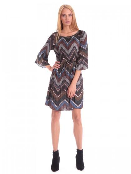 Φόρεμα πλισέ τύπου Missoni