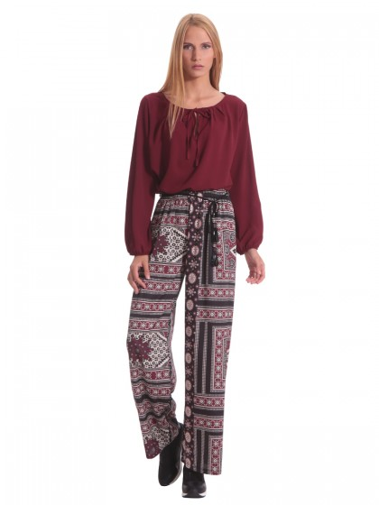 4772fad00f Γυναικεία Παντελόνια  Καμπάνα - Ψηλόμεσα - Ελαστικά - Miss Simbolo