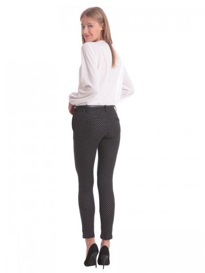 Παντελόνι ελαστικό λευκά μοτίβα