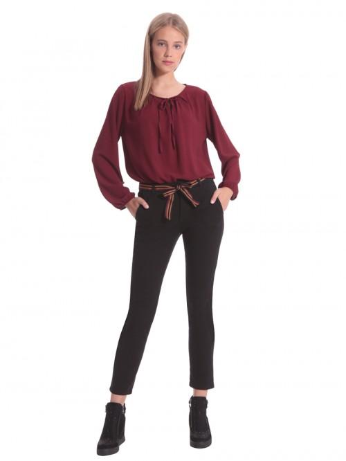 Παντελόνι βαμβακερό ριγέ ζώνη