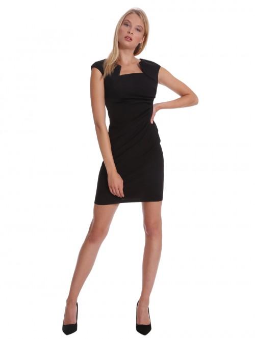 Φόρεμα κρεπ ντραπέ πλάι